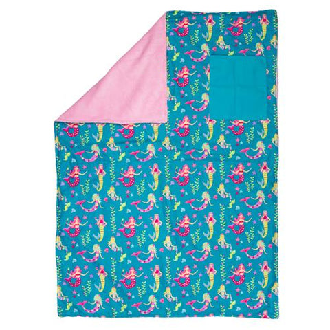 Stephen Joseph All Over Print Toddler Blanket - Mermaid - Milly's Boutique
