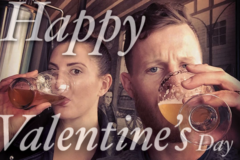 Happy Valentine's day with a lot of beers and Trinken