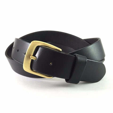 Naples Black Work Belt Solid Brass Pin