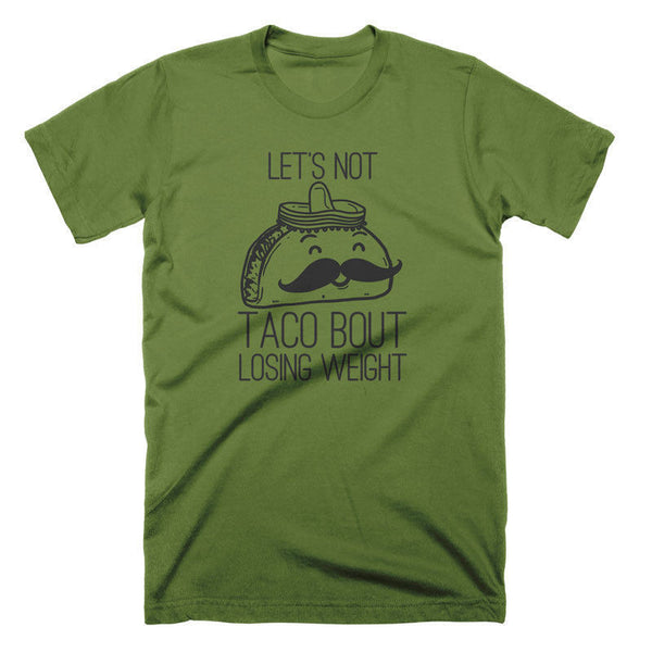 Funny Taco Tees Food T Shirts Losing Weight Exercise Shirt Joke Tees Running Tee