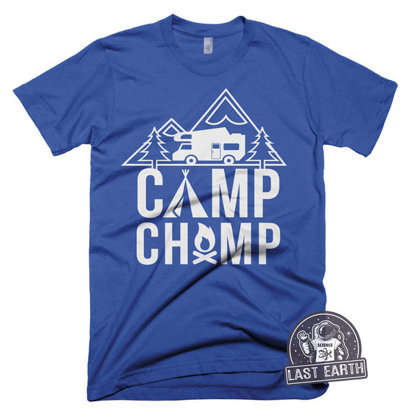 Funny Camping T Shirt Camp Champ TShirt Mountain Hiking Funny Tees Tshirts