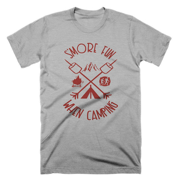 Funny Camping T Shirt Mountain Hiking Tee Shirt Smores Camp Tshirt Funny Tees