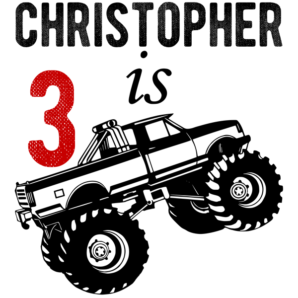 Monster Truck Personalized Birthday