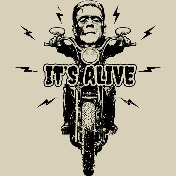 Frankenstein Riding Motorcycle