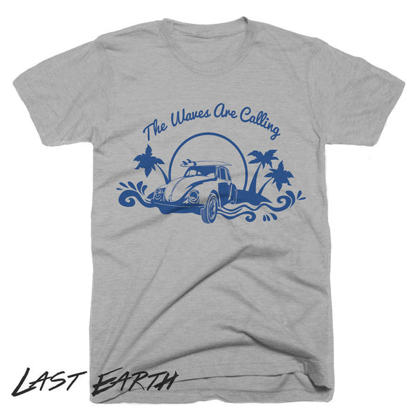 Waves Are Calling T-Shirt Surfer Shirt Beach Shirts Volkswagon Shirt Surfing Shirt Cool Tees Mens Womens Tshirts Vintage Shirt Gifts Tees