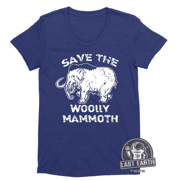 Save The Wooly Mammoth Womens Ladies Vintage Soft Shirt T-Shirt Sci Fi Elephant Funny Humor Gift Tees Geek Geekery Nerdy Girlfriend Wife Tee
