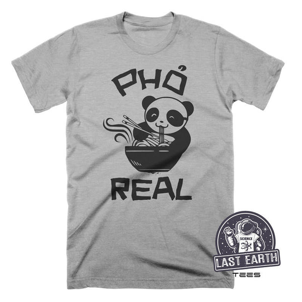 Panda Eating Pho Soup T Shirt Funny Pho Real T Shirt Asian Food TShirt Vietnamese Food T Shirt Noodles T Shirt Mens Womens T Shirt Geek Gift