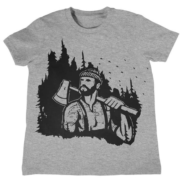 Lumberjack Woodland T Shirt  - Kids Lumberjack Camper Shirt Camping Camp Tee Childrens Clothing Kids Tees Outdoors Boys Girls Gift Ideas