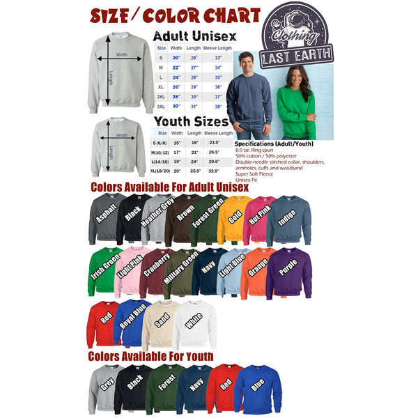 Save The Woolly Mammoth Nerdy Unisex Sweater Flex Fleece Pullover Classic Sweatshirt - S M L Xl 2X (12 Color Options)