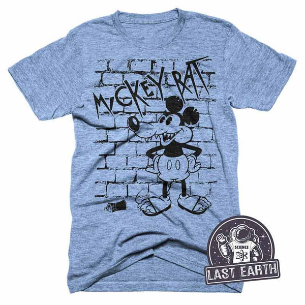 Mickey Rat Graffiti T-Shirt Funny Parody Tshirt Mickey Mouse Joke Shirt Tshirt Animal Tshirts Dirty Rat Shirt Mens Graphic Spray Paint Shirt