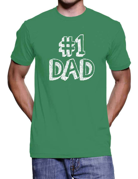 Number One Dad Father's Day T-Shirt - Gifts for Dad Him New Dad Gift From Daughter Papa Bear Novelty Gifts Birthday Gift