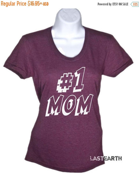 Number One Mom T-Shirt - #1 Mom Shirt - Mothers Day Gift - Gifts For Mom From Daughter Mom Shirt Mama Shirt Mama Bear Anniversary Gifts