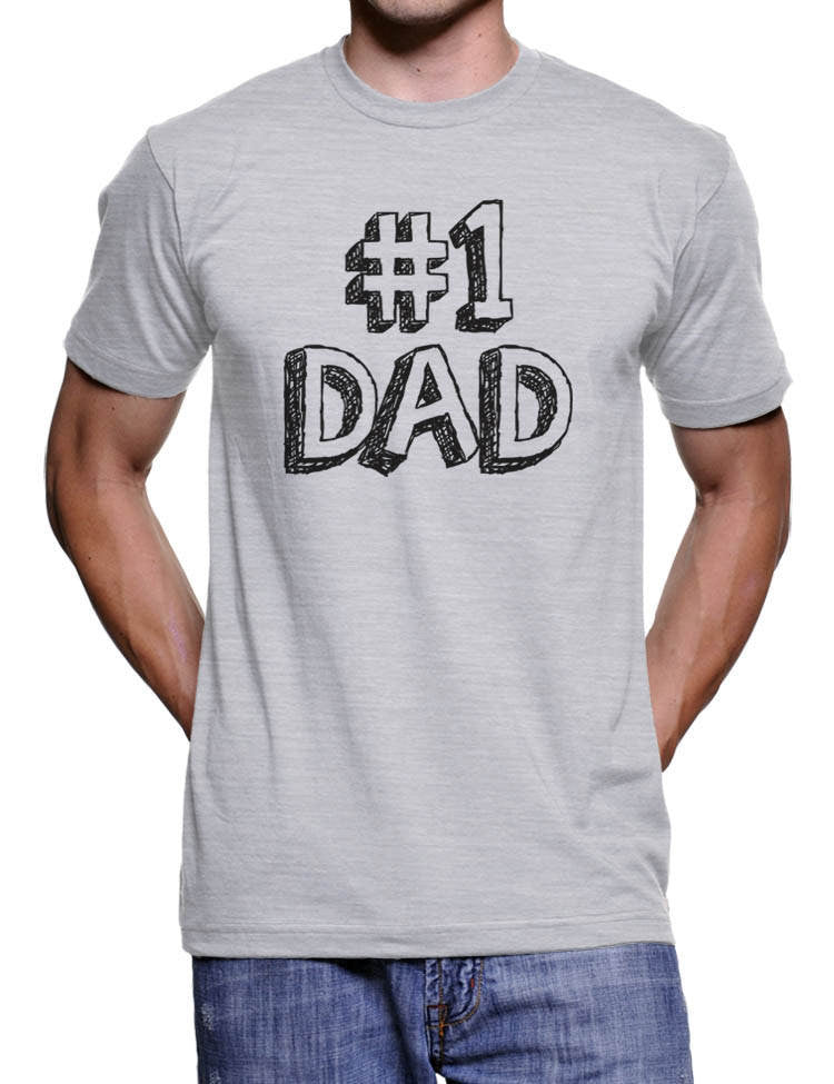 Number One Dad Fathers Day T Shirt