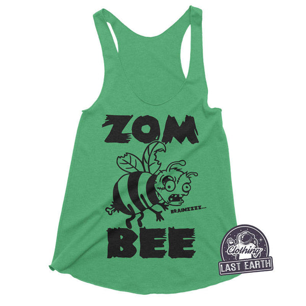 Zombee Racerback Tank | Funny Halloween Shirts | Funny Zombie Shirt | Womens Graphic Tees | Running Shirt | Womens Tank Tops | Funny Shirts