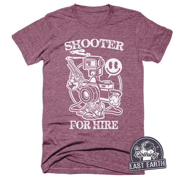 Shooter For Hire T Shirt | Camera Shirt | Photographer Shirt | Camera Tshirt | Photographer Gift | Gun Gifts | Funny Tshirts | Mens Womens