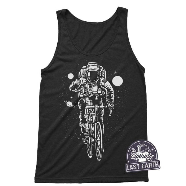 Astronaut on a Bike Tank Top | Funny Astronaut Shirt | Bike Gift | Bicycle T Shirts | Space Shirt | Unisex Tank  | Outer Space Graphic Tees