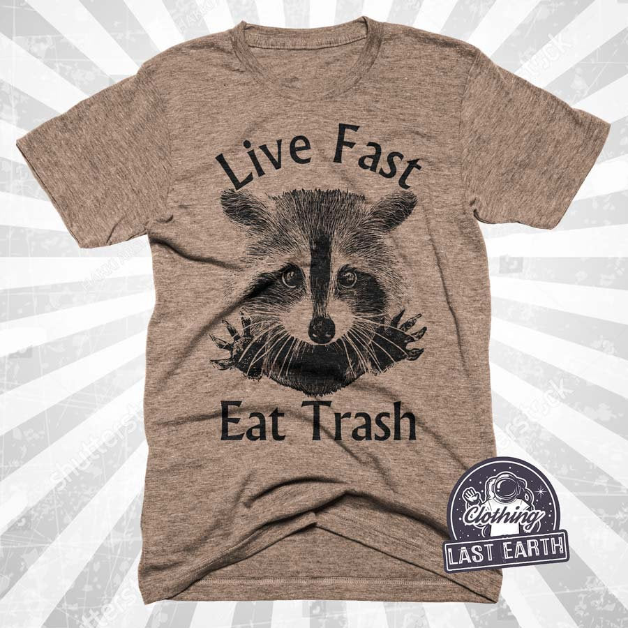 35e3071964 Raccoon Shirt | Funny Shirts | Live Fast Eat Trash | Gifts For Him | Gifts  For Boyfriend | Funny Tshirts | Raccoon Tshirt | Trash Shirt