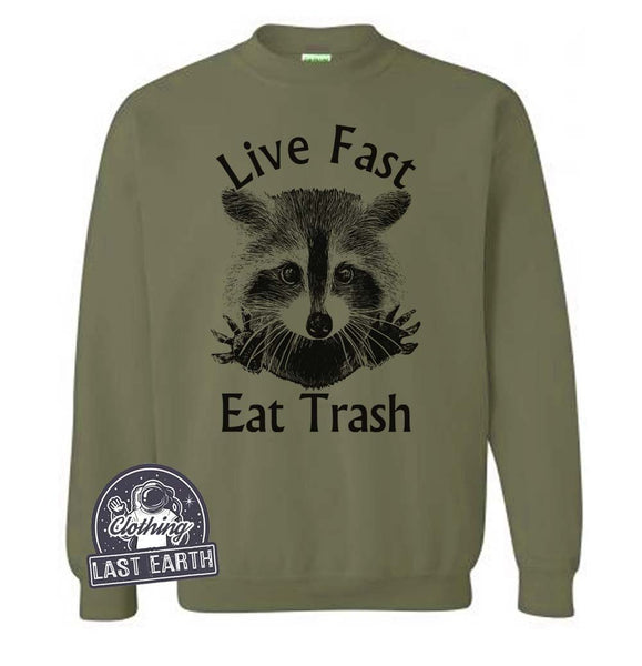 Raccoon Sweater | Camping Sweater | Camping Gifts | Funny Raccoon Sweatshirt | Trash Panda | Mens Sweatshirt | Womens Sweatshirt