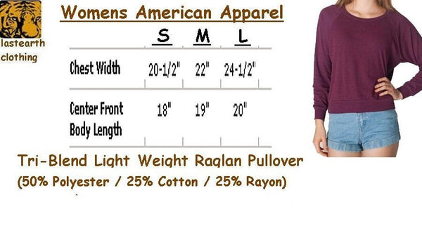 Womens LION Professor Tri-Blend Raglan Pullover - American Apparel - Vintage Soft Feel Light Weight Long Sleeve Tee - Christmas Gift