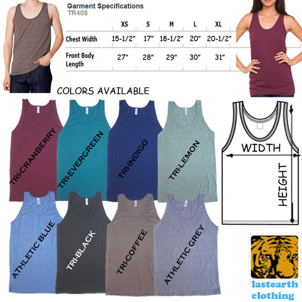 Koi Fish Tri-Blend Tank - American Apparel Unisex Tanktop - XS S M L Xl (Color Options)