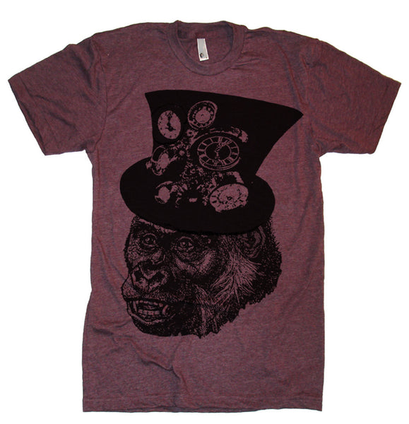 Steampunk Gorilla T Shirt - American Apparel Tshirt - XS S M L Xl 2X (Color Options)