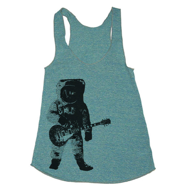 Workout Tank - Astronaut playing Guitar - Workout Clothes For Women - Running Shirt - Run Tank Top - Run Shirt - Gym Tank Top