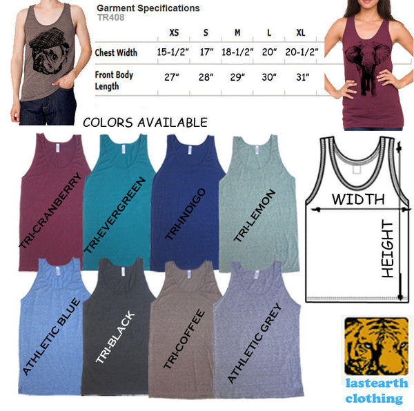 Bad Raccoon Tri-Blend Tank - American Apparel tanktop - XS S M L Xl (Color Options)