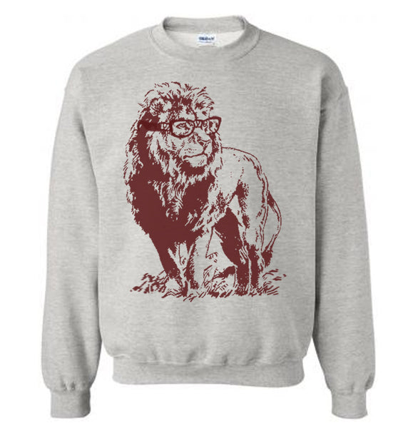 Lion Professor Sweater Flex Fleece Pullover Classic Sweatshirt - S M L Xl and Xxl (Color Options)