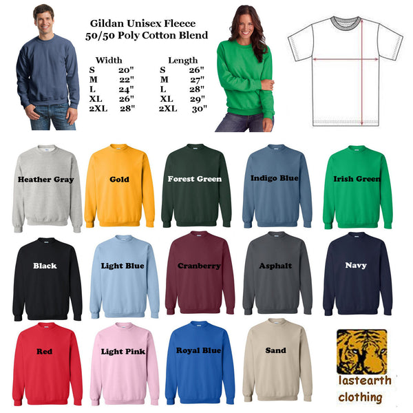 Raccoon Sweater Flex Fleece Pullover Classic Sweatshirt - S M L Xl 2X (12 Color Options)