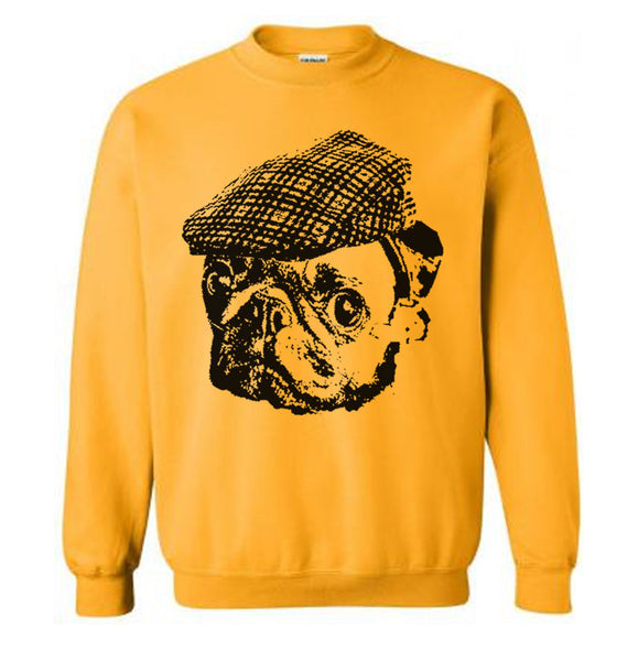 Pug Hooligan Sweater Flex Fleece Pullover Classic Sweatshirt - S M L Xl and Xxl (Color Options)
