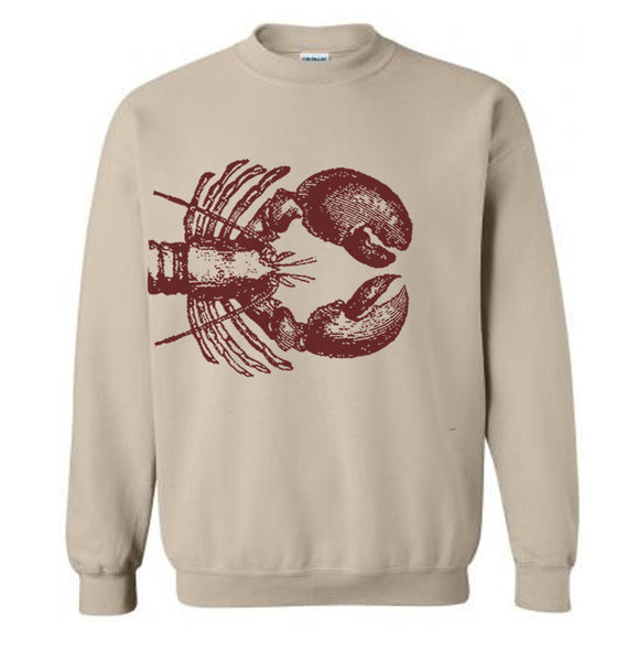 Lobster Sweater Flex Fleece Pullover Classic Sweatshirt - S M L Xl 2Xl (15 Color Options)