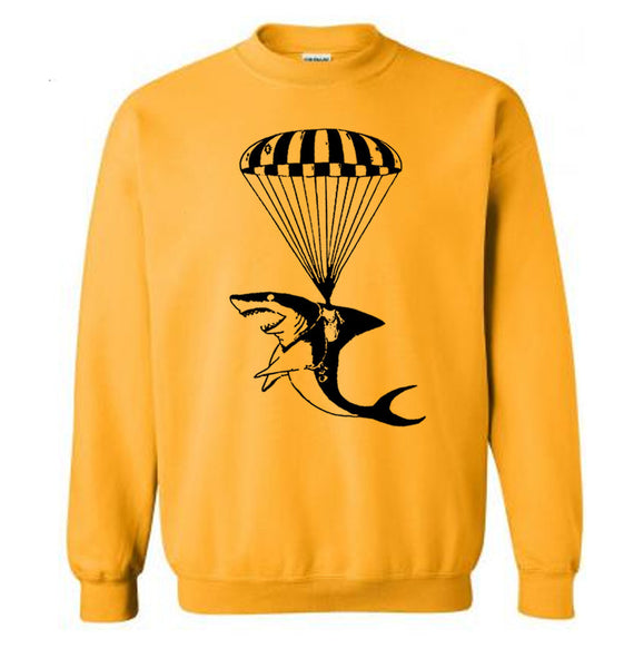 Air Shark Attack Sweater Flex Fleece Pullover Classic Sweatshirt - S M L Xl and Xxl (15 Color Options)