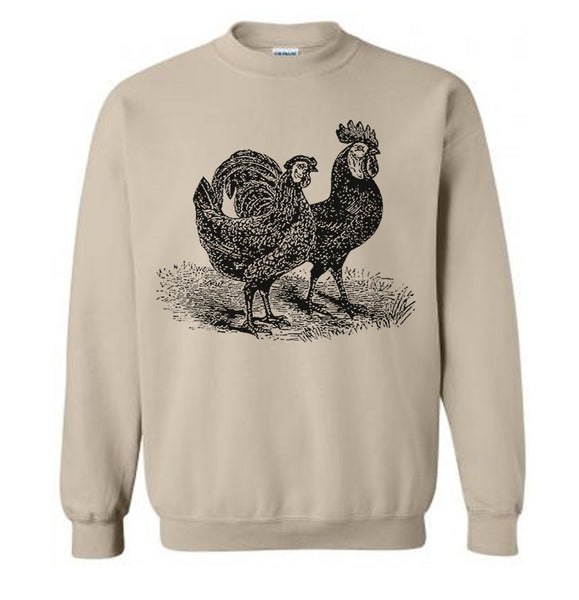 Chickens Sweater Flex Fleece Pullover Classic Sweatshirt - S M L Xl Xxl (Color Options)
