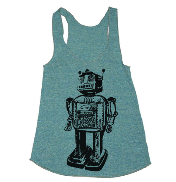 Workout Tank - Robot Tanktop Workout Clothes For Women - Running Shirt - Run Tank Top - Run Shirt - Gym Tank Top