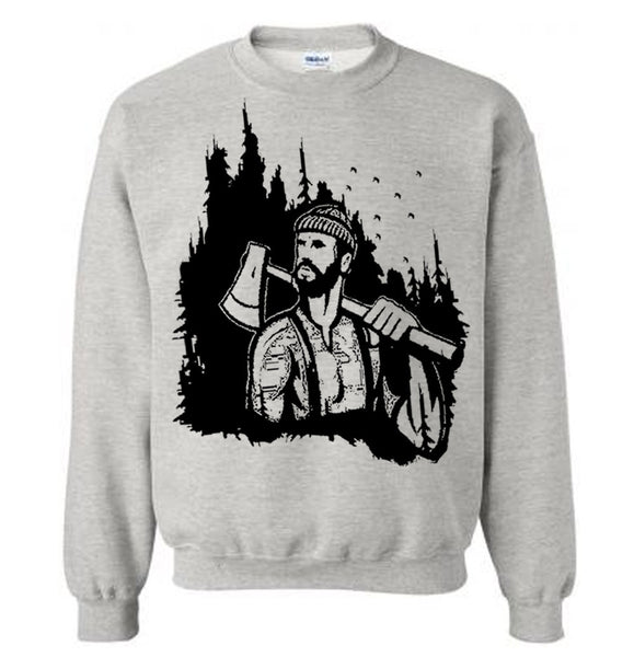 Lumberjack Woodland Sweater Flex Fleece Pullover Classic Sweatshirt - S M L Xl 2Xl (14 Color Options)