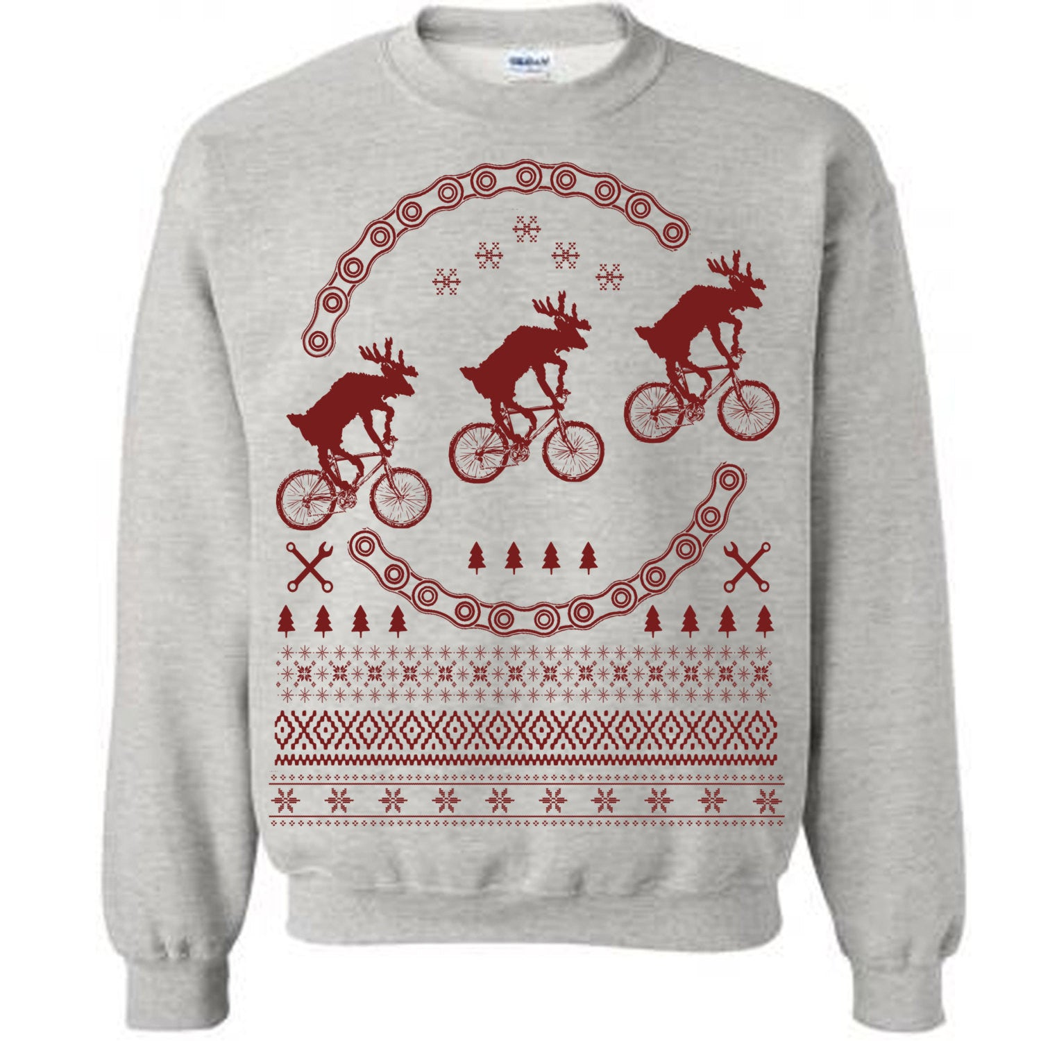 Ride to the Moon - Christmas Ugly Sweater - Bikes Ugly Christmas Sweat -  Last Earth Clothing 1b0f7d696