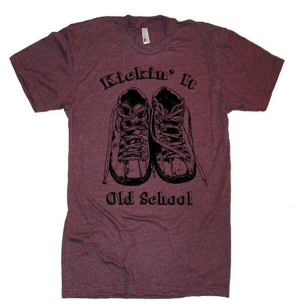 Kickin' It Old School T Shirt tee Vintage Tshirts Retro T Shirt Running T Shirt Funny T Shirt Shoes T Shirt mens T Shirt Womens T Shirt