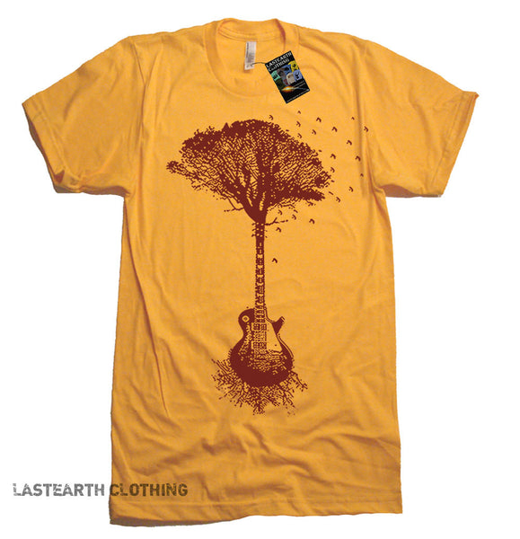 Guitar Tree Of Life Music Tree T Shirt - American Apparel Tshirt - S M L Xl and Xxl (7 Color Options)