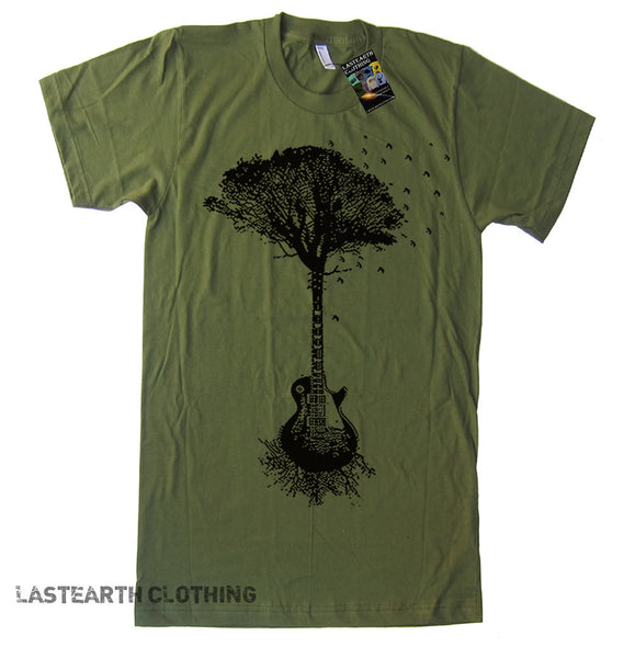 Guitar Tree Mens T Shirt - American Apparel Tshirt - S M L Xl 2X (15 Color Options)