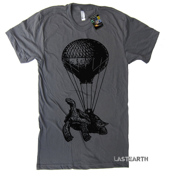 Hot Air Balloon Tshirt Turtle T Shirt Vintage Retro T Shirt Funny Turtle T Shirt Mens Tshirts Flying T Shirt Gifts For Turtles Airborn Shirt