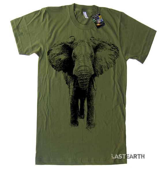 Mens Elephant T Shirt - American Apparel Tee - S M L Xl and Xxl (15 Color Options)