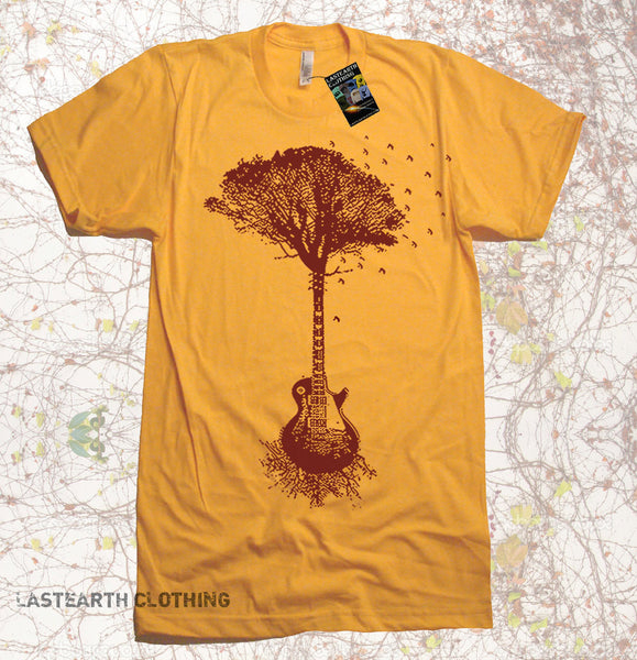Guitar Tree Music mens T Shirt - Music T shirt - Guitar Tree Tee Shirt