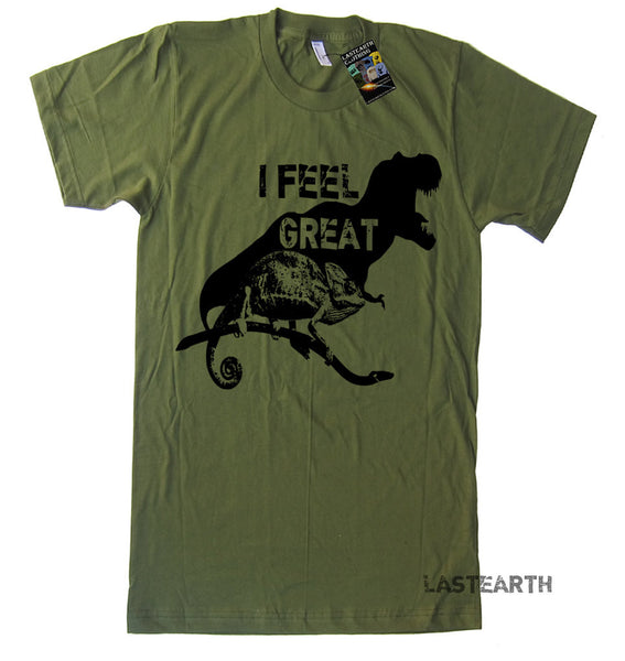 I Feel Great T Shirt Funny Dinosaur TShirt Happy T Shirt Motivational Fitness Mens Womens Kids TShirts Birthday T Shirts Gifts Funny Tshirts