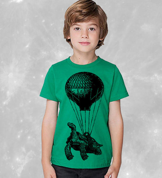 Kids Hot Air Balloon T-Shirt - Childrens Birthday Shirt Party Tshirt Gift Ideas For Nephew Niece Son Daughter - Kids T Shirt Cool Tees Funny