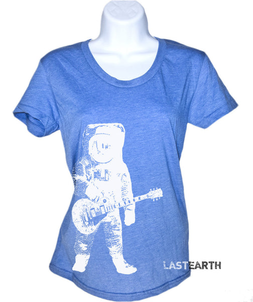 Astronaut Playing Guitar T Shirt - Women's funny T Shirt - American Apparel Shirt - S M L Xl
