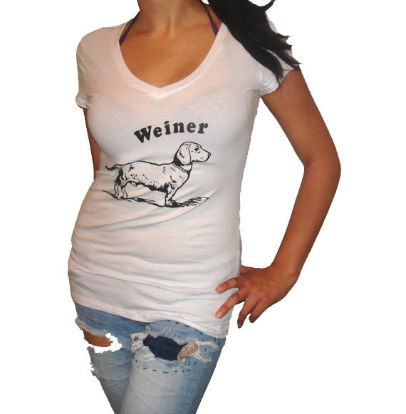Women's Dachshund Weiner Dog T Shirt - White - S M L Xl Xxl