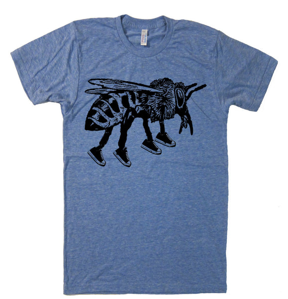 Running Bee T Shirt Jogger Marathon Unisex T Shirt Vintage Shoes  T Shirt Insect T Shirt Honey Bee Gifts Nature T Shirt Funny Mens T Shirt