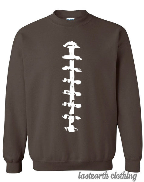 Football Outfit Sweater Flex Fleece Pullover Classic Sweatshirt - S M L Xl 2X