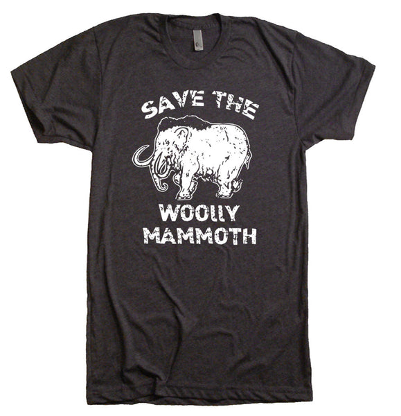 Woolly Mammoth Nerdy T Shirt - Save The Woolly Mammoth Funny Elephant Tee Shirt - Funny Tees - Men Women T-Shirts Funny Novelty Gift Ideas