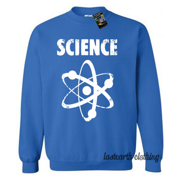 Science Nerdy Sweater Fleece Pullover Sweatshirt - Science Geeky Nerdy Atom - Gifts For Him - Gift Idea - Mens Sweatshirt Womens Sweater